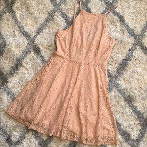 Pink lacy dress